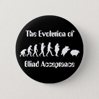 Funny Evolution of Man Parody 6 Cm Round Badge