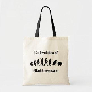 Funny Evolution of Man Parody Tote Bag