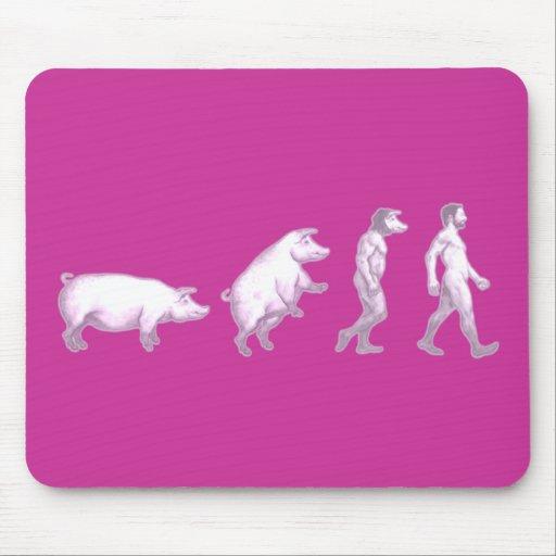 Funny evolution of men mousepad