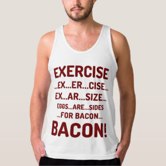 Funny Exercise for Bacon Fine Jersey Tank Top