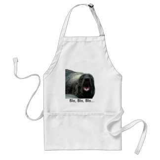Funny expression Seal apron
