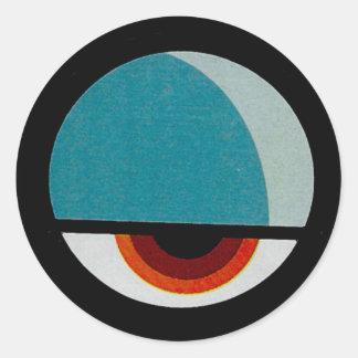 Funny Eye Classic Round Sticker