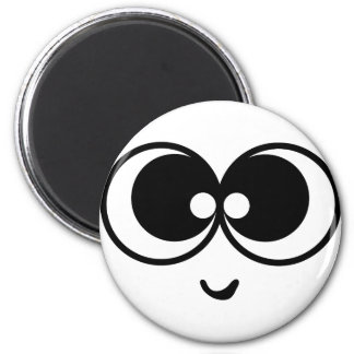 Funny Face 6 Cm Round Magnet