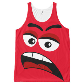 Funny face All-Over print tank top