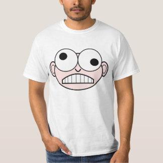 Funny face animation cartoon illustration T-Shirt