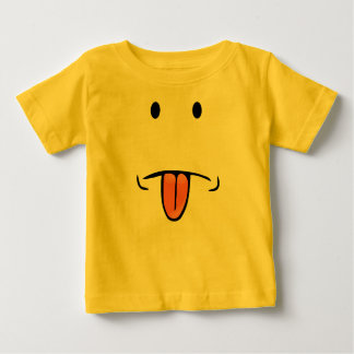 Funny face baby   baby T-Shirt
