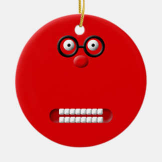 Funny Face Christmas Ornament