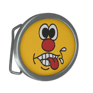 Funny Face custom belt buckle