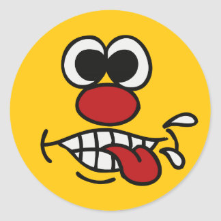 Funny Face custom stickers