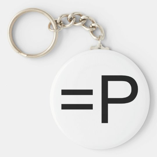 Funny Face Emoticon! Basic Round Button Key Ring