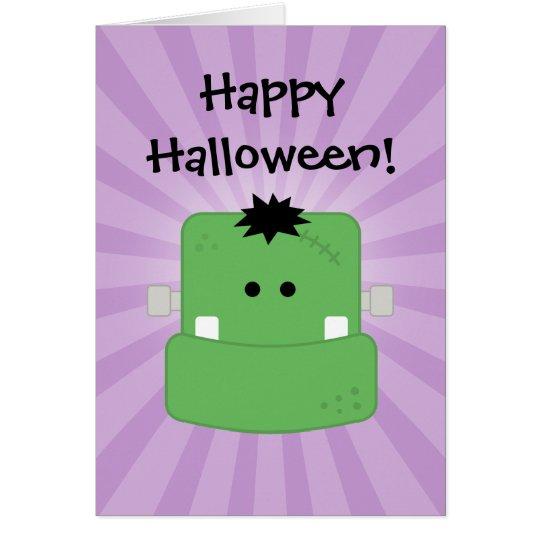Funny Face Frankenstein Card