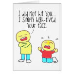 Funny Face High Five Greeting Card