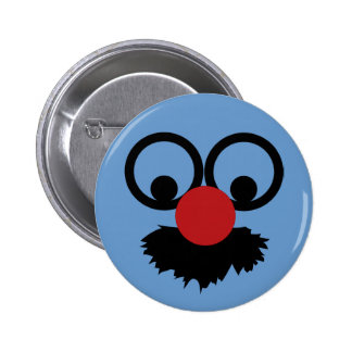 Funny Face Mustache Clown Man With Glasses 6 Cm Round Badge