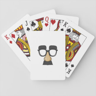 Funny face onPlaying cards. Playing Cards