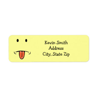 Funny Face Return Address Labels