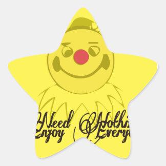 Funny Face Star Sticker