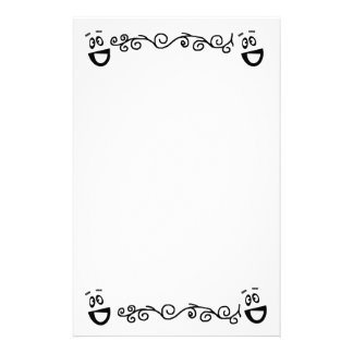 Funny face stationary paper customized stationery