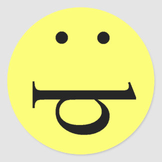 Funny Face Round Sticker