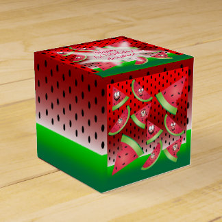 Funny Face Watermelon Kid's Birthday Favour Box