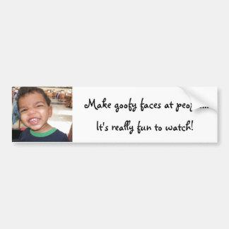 funny faces bumper sticker