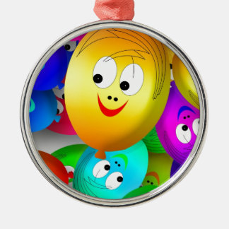 Funny Faces Christmas Ornament