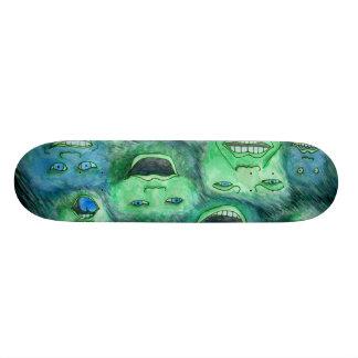 Funny Faces. Fun Cartoon Monsters. Green. Skate Board Decks