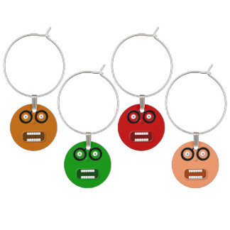 Funny Faces Wine Charm