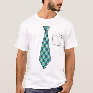 Funny Fake Argyle Necktie Shirt
