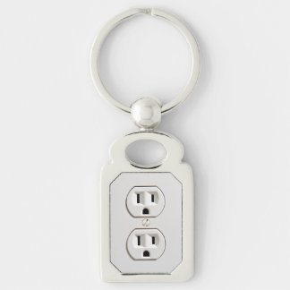 Funny Fake Electrical Outlet Key Ring