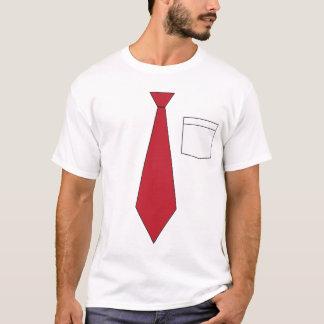 Funny Fake Red Necktie Shirt
