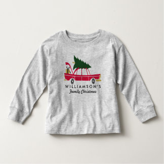 Funny Family Christmas Bringing Home Xmas Tree Toddler T-Shirt