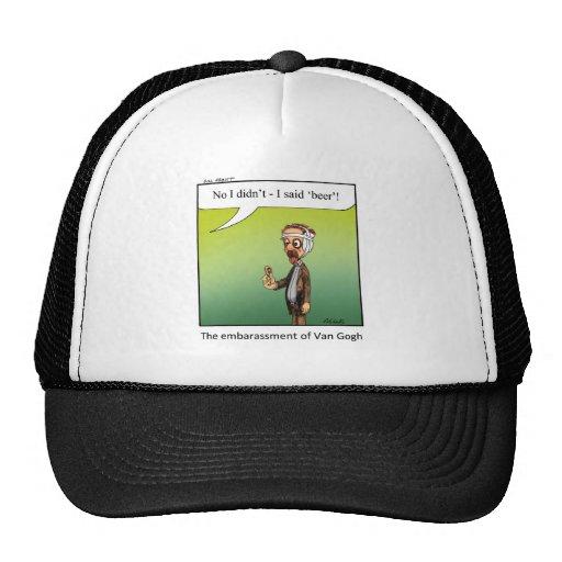 Funny Famous Artist Cartoon Gift! Mesh Hats
