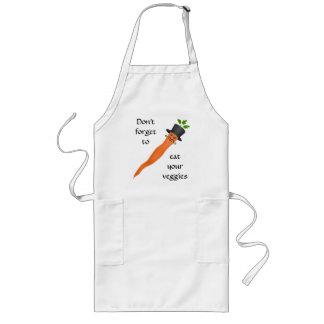 Funny fancy carrot long apron