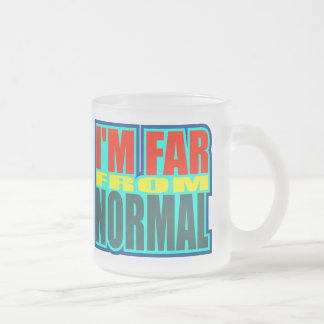 Funny Far From Normal T-shirts Gifts Frosted Glass Mug