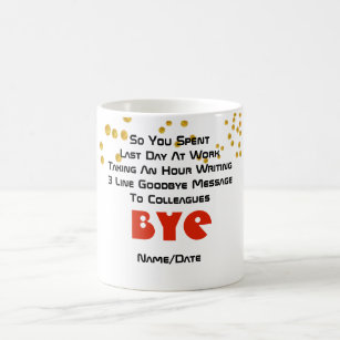 farewell messages coffee travel mugs zazzle uk