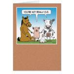 Funny Farm Animals Birthday Greeting Card