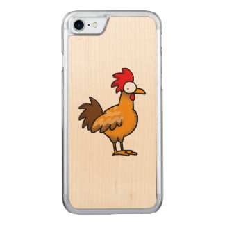 funny farm chicken rooster carved iPhone 7 case