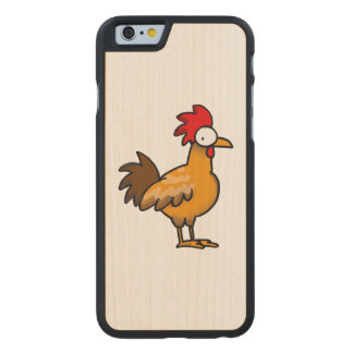 funny farm chicken rooster carved maple iPhone 6 case