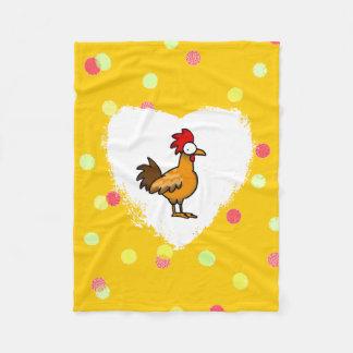 funny farm chicken rooster fleece blanket
