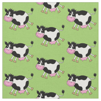 funny farm dancing cow fabric