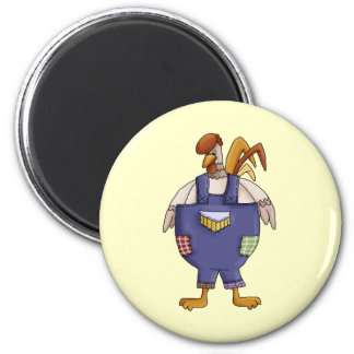 Funny Farm Rooster Refrigerator Magnet