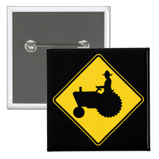 Funny Farm Tractor Road Sign Warning 15 Cm Square Badge