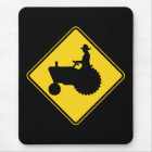 Funny Farm Tractor Road Sign Warning Mouse Mat