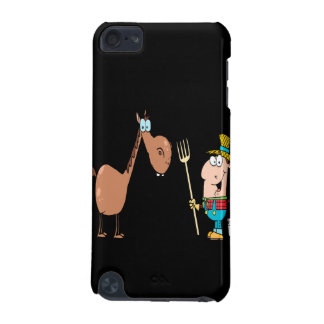funny farmer with horse iPod touch (5th generation) case