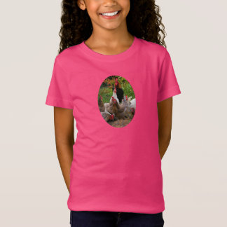 Funny Farmyard Chickens Hens & Rooster Girl's Tee