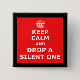 Funny fart 15 cm square badge