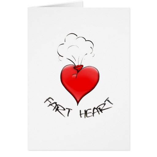Funny Fart Heart Cards