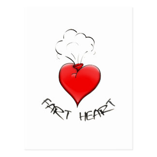 Funny Fart Heart Post Cards