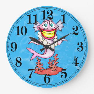 Funny Fashion Diva Fish Wall Clock