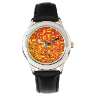 Funny Fashion Shoes Lover Cartoon Details Stylish Wrist Watch